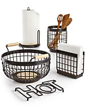 Martha Stewart Collection Wire Kitchen Accessories, Created for Macy's