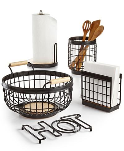 Martha Stewart Collection Wire Kitchen Accessories, Created for Macy's