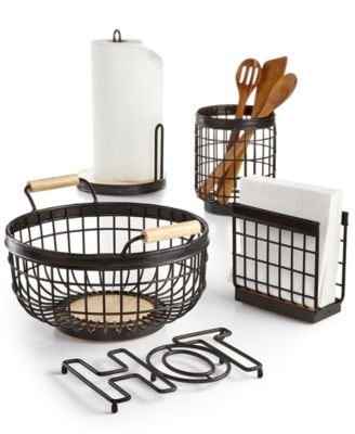 Martha Stewart Collection Wire Kitchen Accessories, Created For Macyu0027s