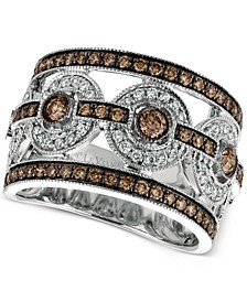 Chocolatier® Chocolate Deco Estate™ Diamond Ring (1-1/4 ct. t.w.) in 14k White Gold