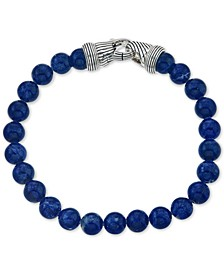 Sodalite (8mm) Beaded Bracelet in Sterling Silver, Created for Macy's