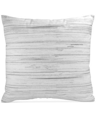 "Loft Stripe Gray 16"" x 16"" Decorative Pillow"