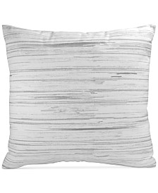 "DKNY  Loft Stripe Gray 16"" x 16"" Decorative Pillow"