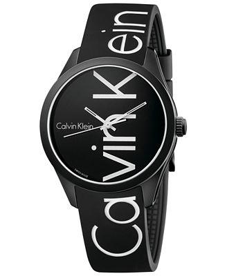 Calvin Klein Men's Color Black Silicone Strap Watch 40mm K5E51TBZ