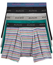 Men's 4-Pk. Striped Boxer Briefs, Created for Macy's