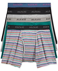 Alfani Men's 4-Pk. Striped Boxer Briefs, Created for Macy's
