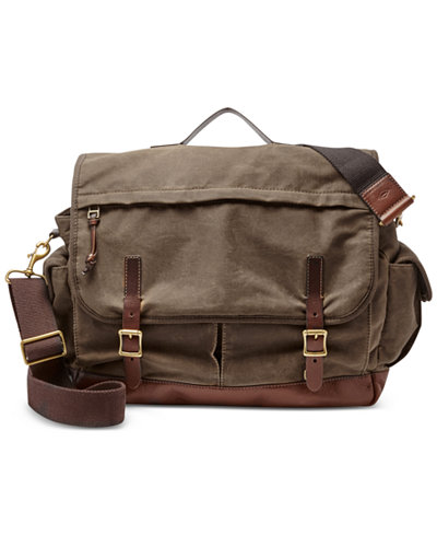 Fossil Men's Defender Top-Handle Messenger Bag - Accessories ...