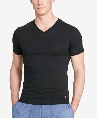 Polo Ralph Lauren Men's Cotton Stretch 2 Pack V- Neck Undershirt ...