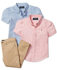 Ralph Lauren Girls' Oxford Tops & Chino Pants