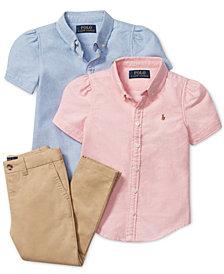 Ralph Lauren Girls' Oxford Tops & Chino Pants