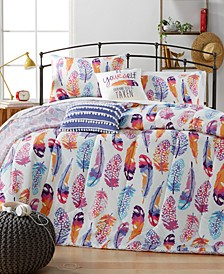 Watercolor Olivia Feather 5-Pc. Comforter Sets
