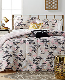 CLOSEOUT! Aubree Diamond 5 Piece Comforter Sets