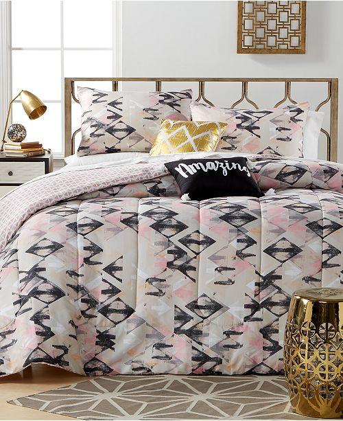 Ideanuova Closeout Aubree Diamond 5 Piece Comforter Sets