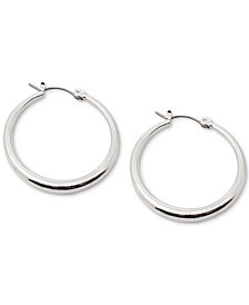 Lauren Ralph Lauren Silver-Tone Small Graduated Hoop Earrings