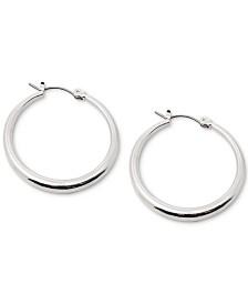 Lauren Ralph Lauren Silver-Tone Small Graduated Hoop Earrings