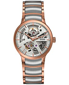 Unisex Swiss Automatic Centrix Open Heart Two-Tone PVD Stainless Steel Bracelet Watch 38mm R30181103