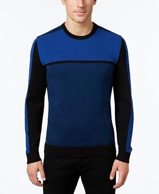 Alfani Men's Colorblocked Sweater, Created for Macy's