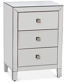Morana Mirrored Three Drawer Cabinet, Quick Ship