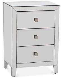 Morana Mirrored Three Drawer Cabinet, Quick Ship