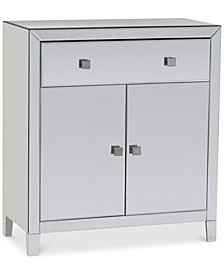 Morana Mirrored Two Door Cabinet, Quick Ship