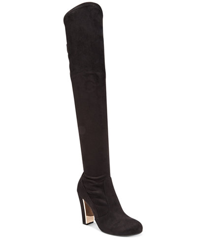 Material Girl Priyanka Over-the-Knee Stretch Boots, Created for ...