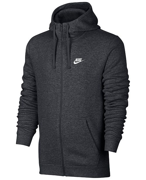 bd12ff24a94 Nike Men s Fleece Zip Hoodie   Reviews - Hoodies   Sweatshirts - Men ...