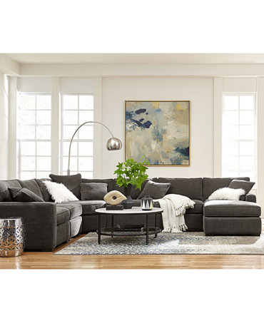 Radley Fabric Sectional Sofa Living Room Furniture ...