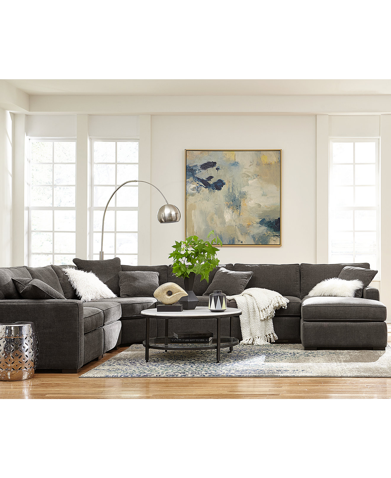 Radley Fabric Sectional Sofa Living Room Furniture Collection. Living Room Furniture Sets   Macy s