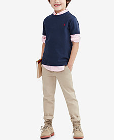 Ralph Lauren Blake Oxford Shirt, Crew-Neck T-Shirt & Suffield Pants, Toddler, Little Boys, & Big Boys