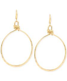 Robert Lee Morris Soho Extra Large Gold-Tone Wire Gypsy Hoop Earrings