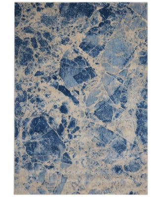 "CLOSEOUT! Moraine MO745 Blue 7'9"" x 10'10"" Area Rug"