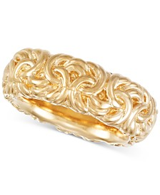 Signature Gold™ Byzantine-Inspired Ring in 14k Gold over Resin, Created for Macy's