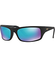 Maui Jim Peahi Polarized Sunglasses , 202 Blue Hawaii Collection