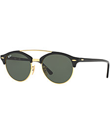 Ray-Ban Sunglasses, RB4346 CLUBROUND DOUBLE BRIDGE