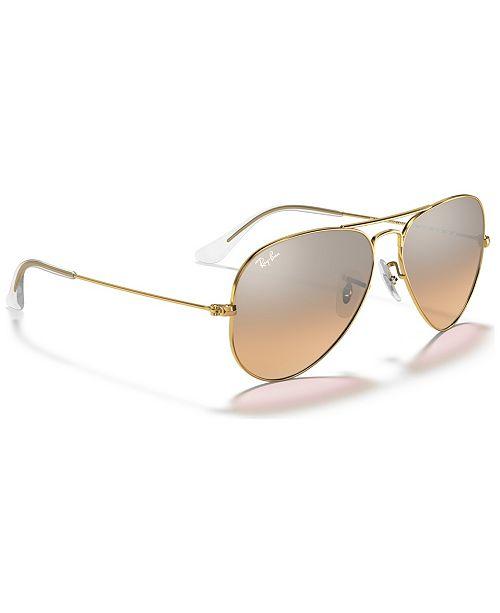596e0d7d7a2 Ray-Ban Sunglasses, RB3025 AVIATOR GRADIENT & Reviews - Sunglasses ...