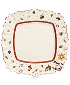 Toy's Delight Square  White Dinner Plate