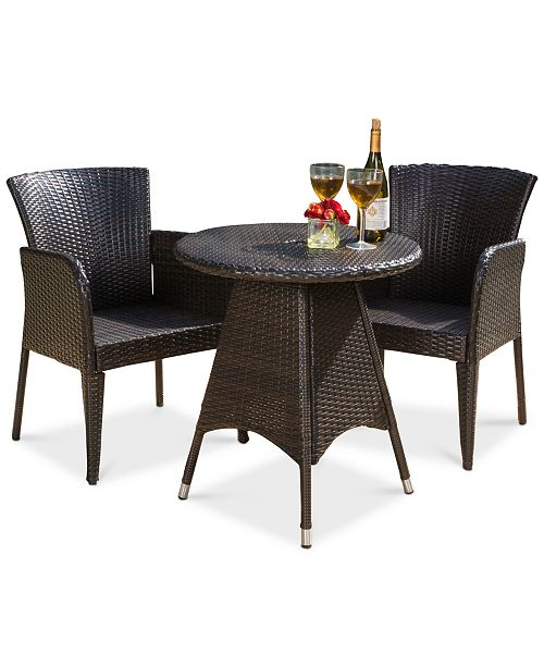 Furniture Toppin 3-Piece Bistro Set, Quick Ship