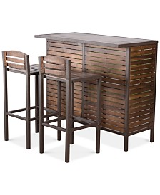 Marlen Outdoor 3-Piece Bar Set, Quick Ship