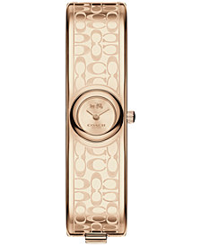 COACH Women's Scout Carnation Gold-Tone Stainless Steel Bangle Bracelet Watch 16mm 14502609