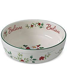 Winterberry Sentiments Santa Believe Candy Bowl