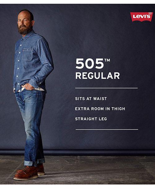 ef7acb9974a Levi's Men's 505 Regular-Fit Online Exclusive Jeans & Reviews ...