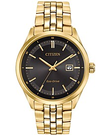 Men's Eco-Drive Gold-Tone Stainless Steel Bracelet Watch 41mm BM7252-51E