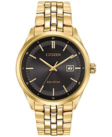 Citizen Men's Eco-Drive Gold-Tone Stainless Steel Bracelet Watch 41mm BM7252-51E