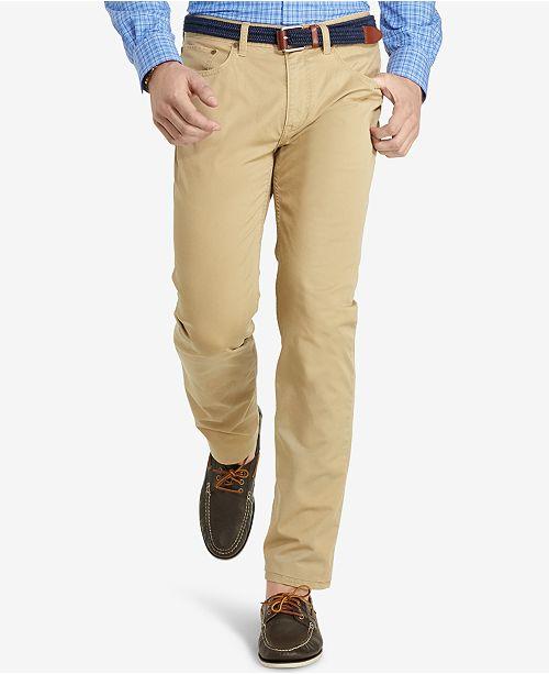 14fa049153937 ... Pants; Polo Ralph Lauren Men's Hampton Straight-Fit Stretch 5-Pocket ...