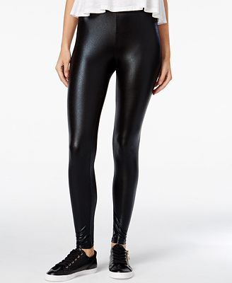 Material Girl Juniors' Faux-Leather Leggings, Only at Macy's ...