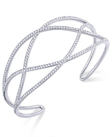 Pavé Laurel Cuff Bracelet, Created for Macy's