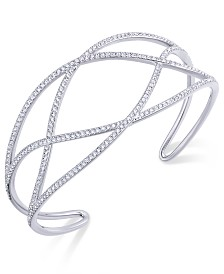Eliot Danori Pavé Laurel Cuff Bracelet, Created for Macy's