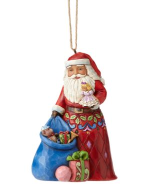 Jim Shore Santa with Toy Bag Collectible Ornament