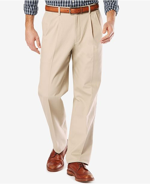 9626870a4b74 ... Dockers Men s Stretch Relaxed Pleated Fit Signature Khaki Pants ...