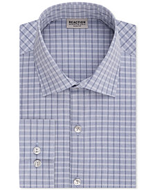 Kenneth Cole Reaction Men's Slim-Fit Techni-Cole Stretch Performance Check Dress Shirt